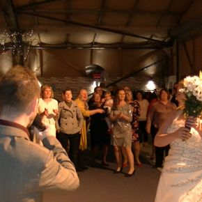 Andy G hosts the Bouquet toss at The Comb, Hexham